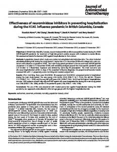 Effectiveness of neuraminidase inhibitors in preventing hospitalization ...
