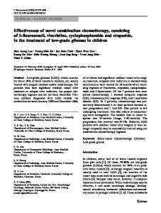 Effectiveness of novel combination chemotherapy ... - Springer Link