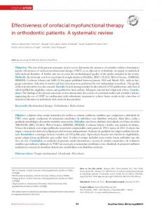 Effectiveness of orofacial myofunctional therapy in ... - SciELO