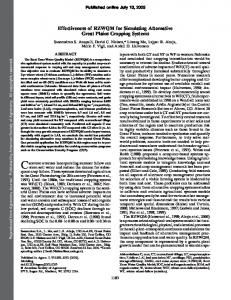 Effectiveness of RZWQM for Simulating Alternative ... - PubAg - USDA