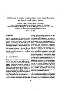 Effectiveness of security by admonition: a case study of security ...
