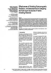 Effectiveness of Shielding Electromagnetic Radiation, and ...