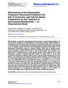 Effectiveness of the Homeopathic Preparation Neurexan ... - Hindawi