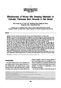 Effectiveness of Woven Silk Dressing Materials on ... - Semantic Scholar