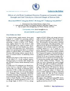 Effects of a 16-Week Combined Exercise Program on