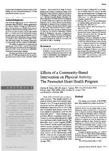 Effects of a Community-Based Intervention on