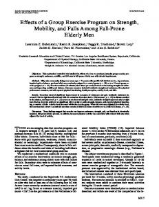 Effects of a Group Exercise Program on Strength ... - Semantic Scholar