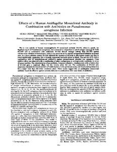 Effects of a Human Antiflagellar Monoclonal Antibody in Combination ...