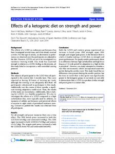 Effects of a ketogenic diet on strength and power | SpringerLink