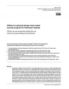 Effects Of A physical therapy home-based exercise program - SciELO