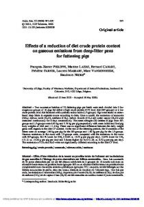 Effects of a reduction of diet crude protein content ... - Animal Research