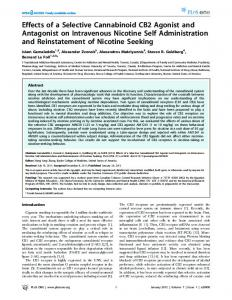 Effects of a Selective Cannabinoid CB2 Agonist and ... - PLOS