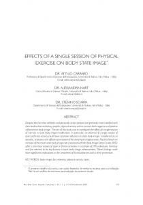 EFFECTS OF A SINGLE SESSION OF PHYSICAL EXERCISE ON ...