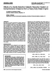 Effects of a Zeolite-Selective Catalytic Reduction System ...