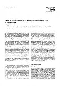 Effects of acid rain on leaf-litter decomposition in a beech forest on ...