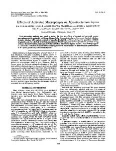 Effects of Activated Macrophages on Mycobacterium leprae