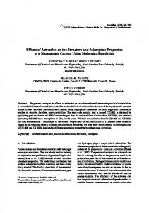 Effects of Activation on the Structure and Adsorption ... - Springer Link