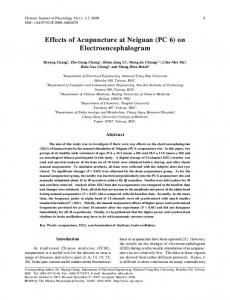 Effects of Acupuncture at Neiguan (PC 6) on ... - Semantic Scholar