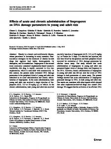 Effects of acute and chronic administration of ... - Springer Link