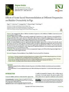 Effects of Acute Sacral Neuromodulation at ... - Semantic Scholar