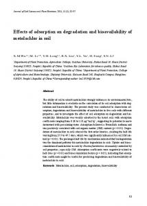 Effects of adsorption on degradation and bioavailability of ... - SciELO