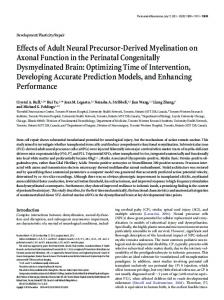 Effects of Adult Neural Precursor-Derived Myelination on Axonal ...