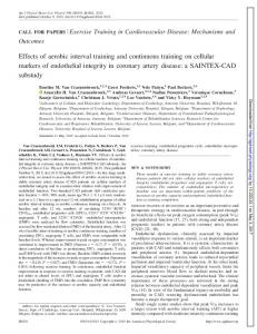 Effects of aerobic interval training and continuous