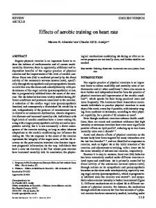 Effects of aerobic training on heart rate - SciELO