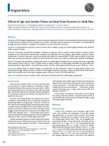 Effects of age and aerobic fitness on heart rate recovery in adult men