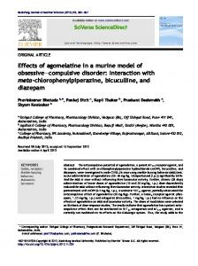 Effects of agomelatine in a murine model of obsessive ... - Core