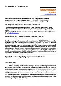 Effects of Aluminum Addition on the High Temperature Oxidation