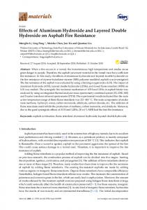 Effects of Aluminum Hydroxide and Layered Double Hydroxide ... - MDPI