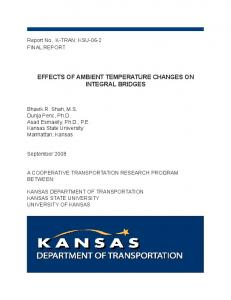 EffEcts of ambiEnt tEmpEraturE changEs on intEgral bridgEs - ROSA P