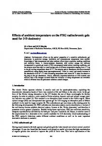 Effects of ambient temperature on the FXG ...