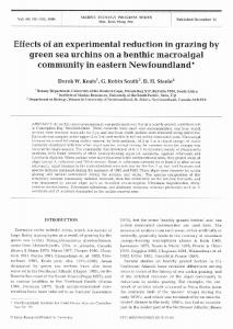 Effects of an experimental reduction in grazing by ... - Inter Research