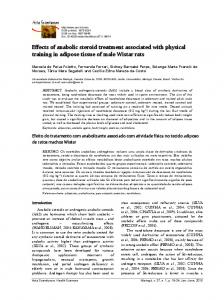 Effects of anabolic steroid treatment associated with ... - CiteSeerX