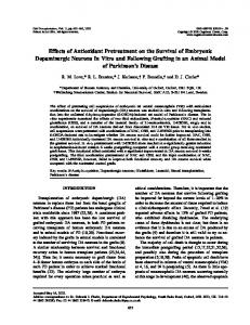 Effects of Antioxidant Pretreatment on the Survival of ... - SAGE Journals
