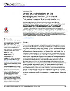 Effects of Argentilactone on the Transcriptional Profile, Cell Wall and ...
