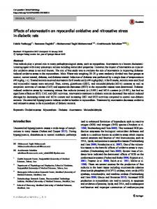 Effects of atorvastatin on myocardial oxidative and