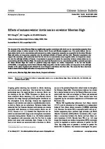 Effects of autumn-winter Arctic sea ice on winter ... - Springer Link