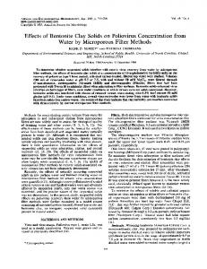 Effects of Bentonite Clay Solids on Poliovirus Concentration from ...