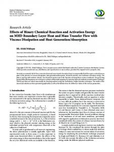 Effects of Binary Chemical Reaction and Activation Energy on MHD