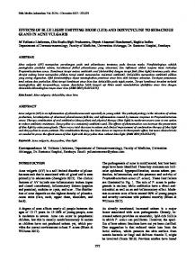 effects of blue light emitting diode (led) and