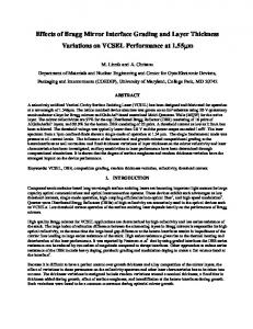 Effects of Bragg Mirror Interface Grading and Layer Thickness ...