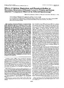 Effects of Calcium, Magnesium, and Phosphorylcholine on Secondary ...
