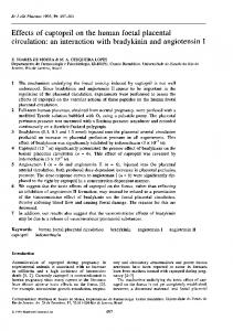 Effects of captopril on the human foetal placental ... - Europe PMC
