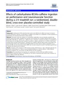 Effects of carbohydrates-BCAAs-caffeine ingestion on ... - BioMedSearch