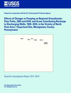 Effects of Changes in Pumping on Regional Groundwater-Flow Paths ...