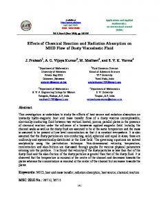Effects of Chemical Reaction and Radiation Absorption on MHD Flow ...