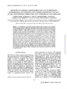 effects of chronic administration and subsequent withdrawal of ethanol ...